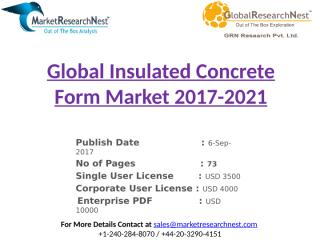 Global Insulated Concrete Form Market 2017-2021.pptx