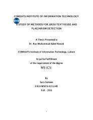 A Study of Methods for Urdu text Reuse and Plagiarism Detection.pdf